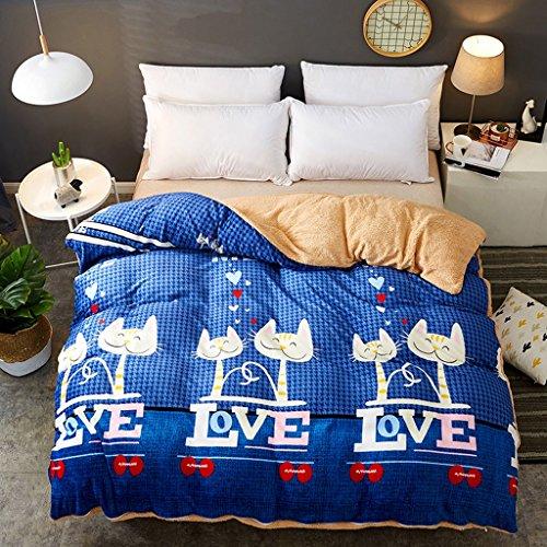 MMM Edredon d'hiver Étudiant Individuel Quilts d'hiver 1.5m Lit plus épais Conserver Quilt edredon Core Double Dormroom Literie (Couleur : #3, taille : 220 * 240cm)
