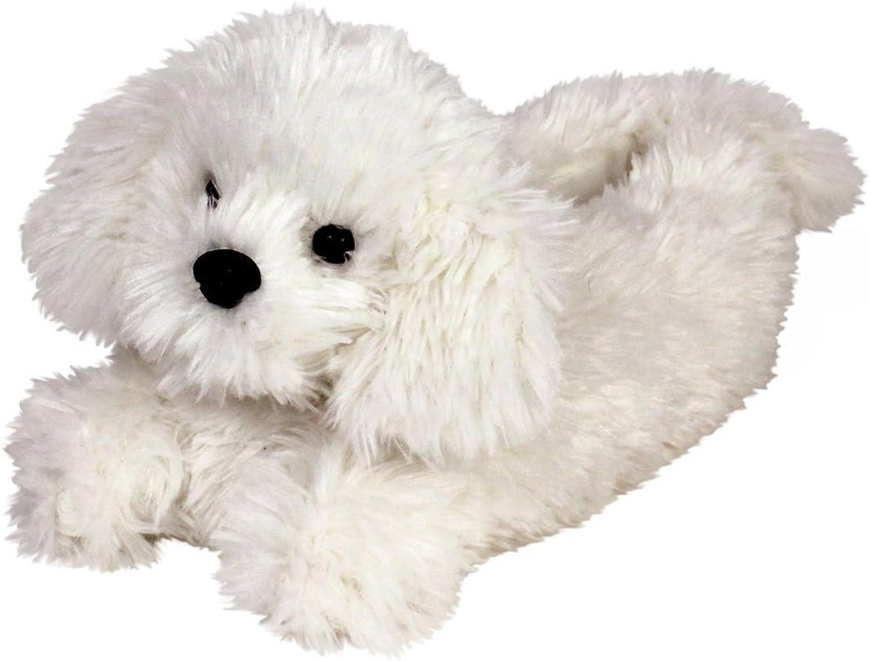 Bichon Frise Slippers - Plush Dog Animal Slippers White