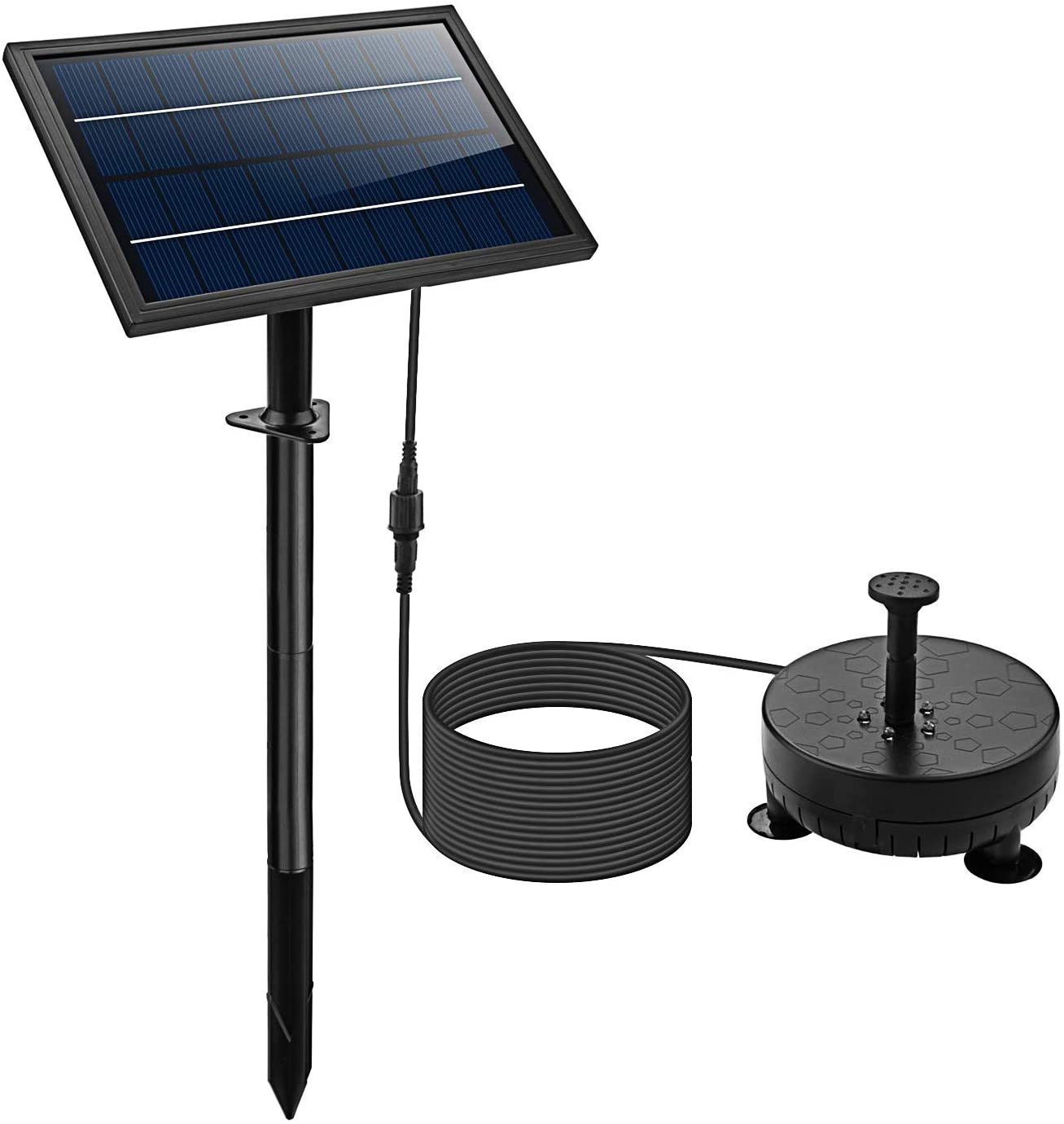 Lewisia Popularity Battery Backup Solar Fountain for with Pump Long Beach Mall Lighting LED
