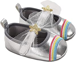Baby Girls Sparkly Stars Rainbow Mary Janes Wedding Princess Dress Crib Shoes