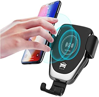 Wireless Car Charger,Lewoer 10W Fast Wireless Charger Car Mount Air Vent Gravity Design Phone Holder Compatible iPhone X/XS/XR Galaxy S9/S9+ All Qi Devices