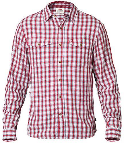 Fjällräven Herren Abisko Cool Hemd (langarm), Rot, XXL
