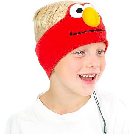 Sesame Street Kids Headphones by CozyPhones - Over The Ear Headband Headphones - Volume Limited with Thin Speakers & Soft Fleece Headband – Elmo