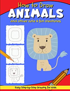 How to Draw Animals: Simple & Easy Step-by-Step Line Drawing for Kids | Lion