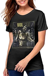 Nancy J Evans Womens Volbeat Seal The Deal & Let's Boogie Music Theme Sports Short Sleeve T-Shirt