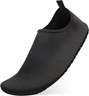 KUNSHOP Men Women Water Shoes Slip-on Aqua Shoes Quick Dry Barefoot Skin Socks