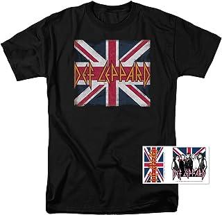ac145f62293d Def Leppard Logo Union Jack 80s Rock T Shirt