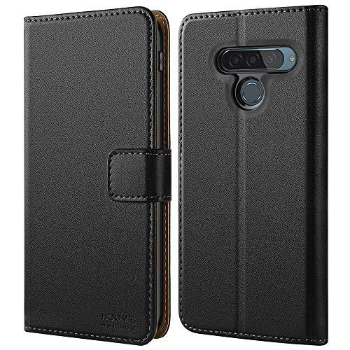 HOOMIL Handyhülle für LG G8S ThinQ Hülle, Premium PU Leder Flip Schutzhülle für LG G8S ThinQ Tasche (Schwarz)