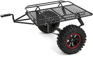 Remolque RC, Kit de Remolque de Plataforma Plana del Eje Eje mecanizado Remolque de Barco Modelo de Metal Remolque pequeño Apto para D90 CC01 1/10 RC Truck