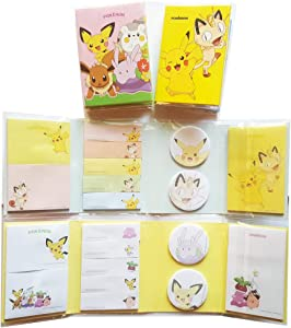 Pokemon Self Stick Note Pikachu Post-it Sticky Notes Bookmark Set of 2
