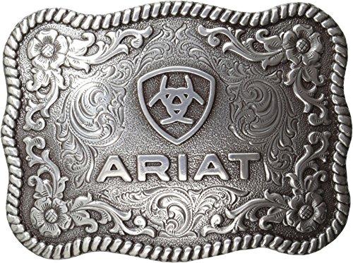 Ariat Men's Scalloped Rectangular Filigree Belt Buckle