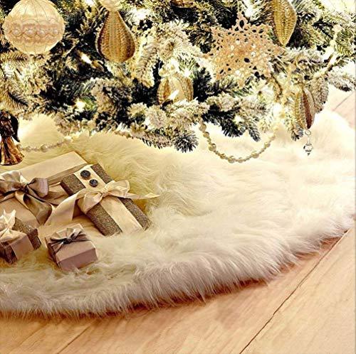 Jrancc kerstboom rok decoratie 78 cm wit vlies rok base cover decoratie voor vrolijk kerst Holiday Home decoraties boomversiering