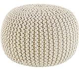 Puf tejido a mano de Sweet Needle, otomana para el suelo, cuerda 100 % de algodón trenzado, hecho y...