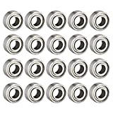 uxcell 683ZZ Ball Bearing 3mm x 7mm x 3mm Double Shielded Deep Groove Bearings, Carbon Steel 20pcs