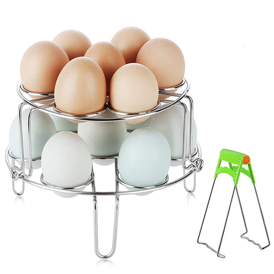 のヒープペグオーディション卵蒸し器ラック、インスタントポットアクセサリー用CUGLB食品グレード積み重ね可能野菜蒸しホルダー圧力鍋