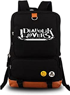 Anime Diabolik Lovers Luminous Large Capacity School Bag Cosplay Backpack Black and Blue