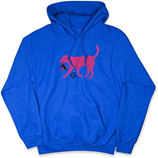 ChalkTalkSPORTS Soccer Standard Sweatshirt | Sasha The Soccer Dog