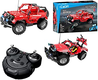 2.4Ghz RC 2 in 1 Car Building Block Kit, DIY Assembling STEM Educational Intelligence Learning Vehicle Toys Gifts for Aged...