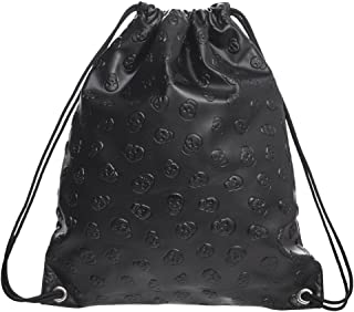 Skull PU leather Drawstring Backpack for Traveling or Shopping Casual Daypacks School Bags