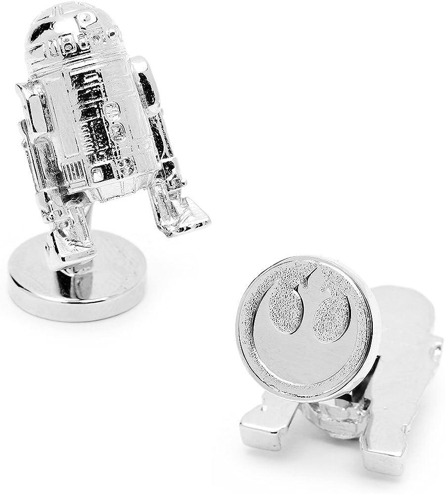 Star Wars 3-D Palladium R2D2 Cufflinks Novelty 1 x 1in