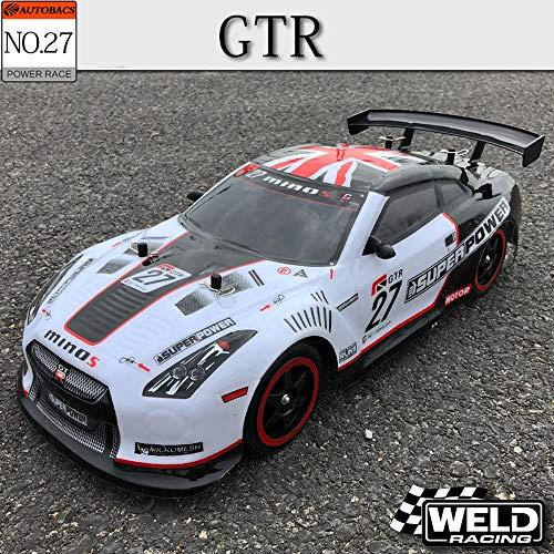 XSLY Profesional de control remoto Drift Racing 45 kmh alta velocidad eléctrico RC GTR del coche de deportes al aire libre for adultos Juegos automóviles de juguete for niños Modelo 2.4G Wireless jugu