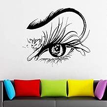 sybdnr Calcomanías modernas de pestañas de leopardo Calcomanía de pared de vinilo Etiqueta de la ventana Decoración del hogar Sala de estar Dormitorio Fondo de pantalla 47x42cm