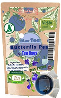 Premium Butterfly Pea tea 30 Tea bags Filling Relax with Natural Taste