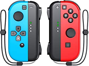 $54 » Joy Con Controller (L/R), OIVO Wirelss Joy Pad with Wrist Strap for Nintendo Switch - Red/Blue