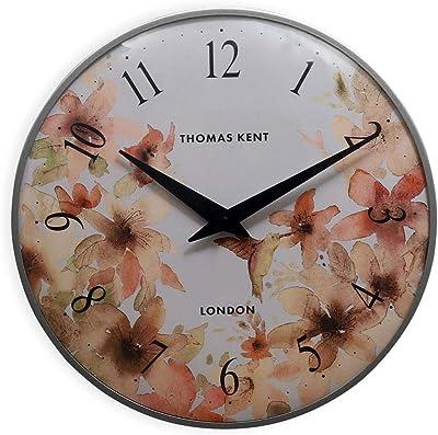 @home by Nilkamal Thomas Kent Impressions Paisley Plastic Wall Clock (5 cm x 34.69 cm x 35 cm, Orange)