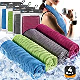 Best Cooling Neck Wraps - 4pc Cooling Towel - Cooling Towels for Neck Review
