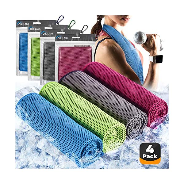 4pc Cooling Towel – Cooling Towels for Neck 4 pack – Ice Towel Chilly...