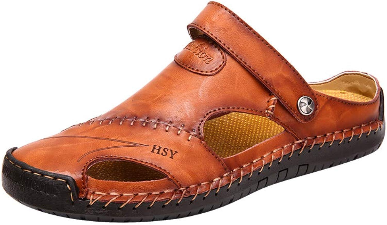 Chanclas Deportes Al Aire Libre Sandalias shoes para men Summer Sandals Men's Baotou Summer Hole Men's shoes Leather shoes Sandals Beach Breathable
