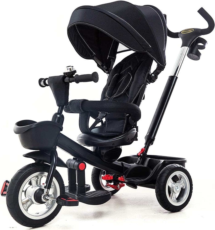 Jian E- Kinder Dreirad Fahrrad Baby Fahrrad 1-3-5 Jahre alt Zwei-Wege Sitzen leichte leichte Kombi    (Farbe   B)