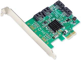 Syba SI-PEX40064 4-Port SATA III PCI-EXPRESS 2.0 x 1 Controller Card 4-voudige aansluiting SATA PCIe x1 Marvell 88SE9215 ...