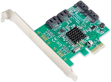 I/O Crest 4 Port SATA III PCI-e 2.0 x1 Controller Card Marvell 9215 Non-Raid with Low Profile Bracket SI-PEX40064