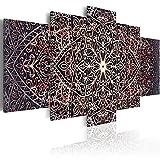 murando Cuadro en Lienzo 200x100 cm Mandala Impresión de 5 Piezas Material Tejido no Tejido Impresión Artística Imagen Gráfica Decoracion de Pared Ornamento Zen f-C-0132-b-o