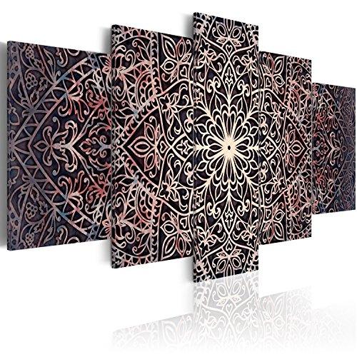 murando Cuadro en Lienzo 100x50 cm Mandala Impresión de 5 Piezas Material Tejido no Tejido Impresión Artística Imagen Gráfica Decoracion de Pared Ornamento Zen f-C-0132-b-o