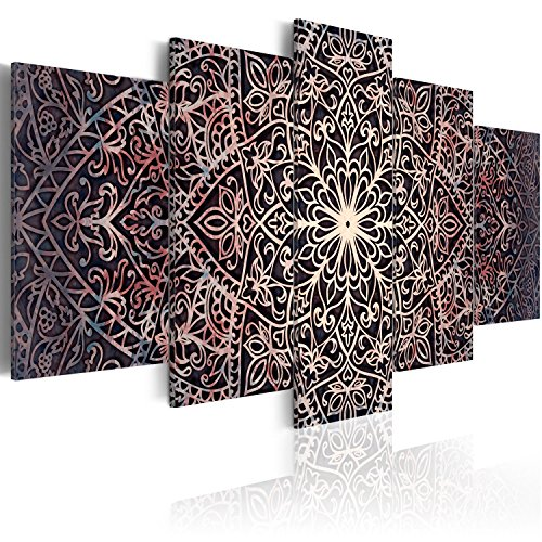 murando Cuadro en Lienzo 200x100 cm Mandala Impresión de 5