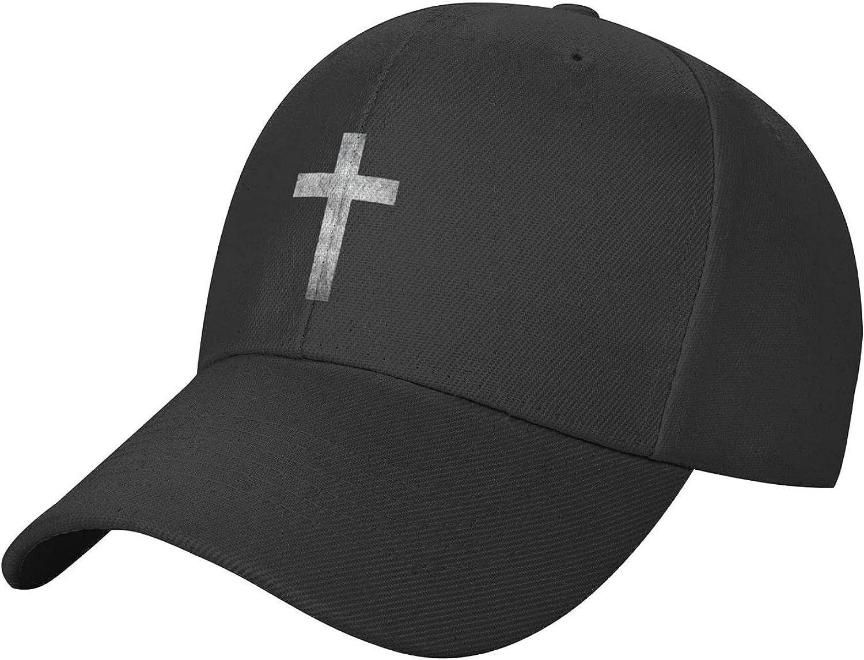 Christian Jesus Cross Hat Black Baseball Cap Adjustable, Unisex Trucker Hat Cool Dad Hat for Women Men Outdoor
