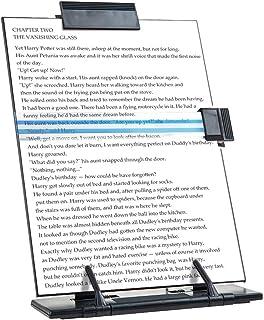 comprar comparacion Atril de sobremesa JDYYICZ para documentos o libros, de metal negro, 7posiciones ajustables