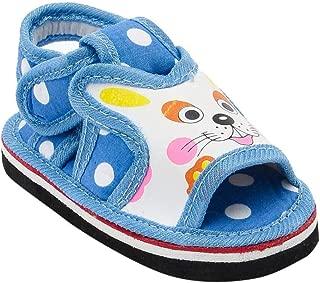 CHIU Boys and Girls Polka Dot Cat Print Musical Sals in Blue Colour