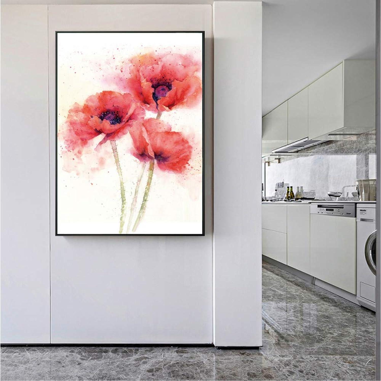 la calidad primero los consumidores primero Mmbj Flor de Amapola Lienzo Lienzo Lienzo Pinturas del Arte en la Parojo Flores Rojas abstractas Carteles e Impresiones del Arte Cuadros Cuadros para la Sala de Estar 80x100cm  ahorra hasta un 80%