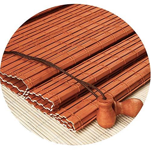 CHAXIA Bambus Rollo Bambusrollo Retro Sonnenschutz Romanik Vorhang Massivholzschiene Massivholz Farbabstimmung Perlen, 2 Farben Mehrere Größen (Color : B, Size : 100cmX240cm)