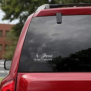 12.7Cmx4.7Cm Jesus is My Lifeline Car Motorcycle Sticker Decals for Car Laptop Window Sticker