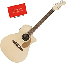 Fender Newporter Player Champagne Acoustic-Electric Guitar Bundle w/Fender Play