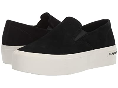 SeaVees Baja Slip-On Platform (Black) Women