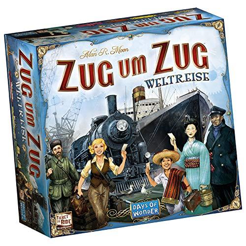 Asmodee Zug um Zug: Weltreise, Grundspiel, Familienspiel, Deutsch