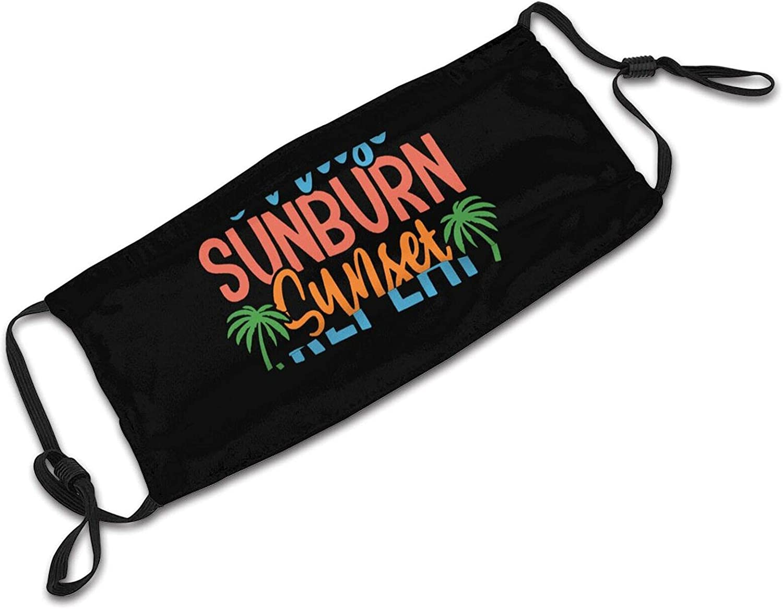 Sunrise Sunburn Sunset Repeat-7 Face Mask, Reusable Washable Cloth Anti Dust Cloth Bandanas Breathable Balaclava for Dust Outdoors Men and Women