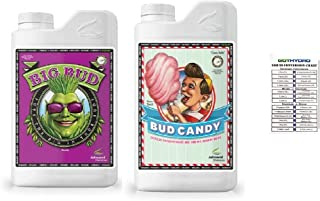 Advanced Nutrients Organic Big Bud and Organic Bud Candy OIM Certified 1 Liter Set with Conversion Chart