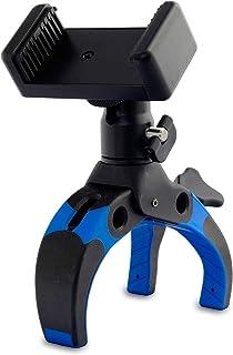 Mobile-Catch パワークランプ King of Kings Edition BLUE 開脚幅0~75mm 自由雲台付属 スマートフォンホルダー付属 プラスチック製 390233